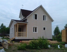 Дом каркасный размером 8х8 м