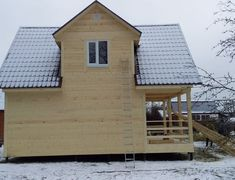 Каркасный дом Домодедово-2К, 6х8 м, сезонная комплектация (Тульская область)
