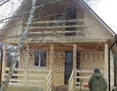 Дом из бруса с каркасной мансардой по проекту Алтай-1