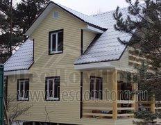 Каркасный дом с балконом Домодедово-2К, 6x8 м (Московская область)