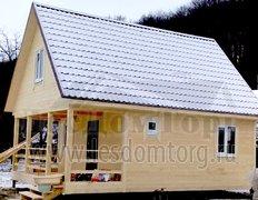 Каркасный дом Домодедово-2К, 6x8 м (Тульская область)