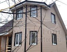 Каркасный дом Флагман-2К, 7х7 м