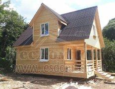 Каркасный дом с мансардой, проект Домодедово