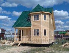 Каркасный дом с эркером, проект Флагман-1К