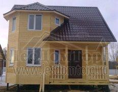 Каркасный дом с эркером, проект Флагман-2К