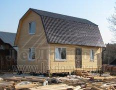 Каркасный дом, индивидуальный проект 8х5