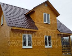 Каркасный дом размером 6х8 м по проекту Домодедово-2К