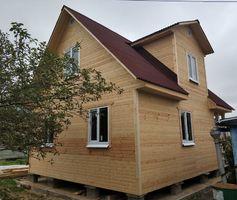 Каркасный дом размером 6х8 м, по проекту Домодедово-2К. С зашитой террасой