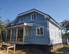 Каркасный дом размером 8х9 м по индивидуальному проекту