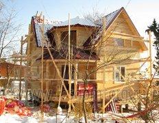 Каркасный дом с балконом, проект Охотник