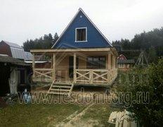 Каркасный дом, проект Теремок с террасой, договор КК-043