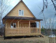 Каркасный дом, проект Теремок с террасой и мансардой