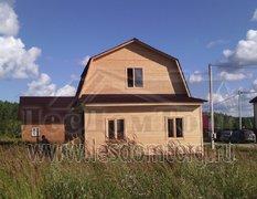 Каркасный дом, проект Урал с верандой