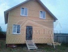 Каркасный дом, проект Василёк без террасы и балкона