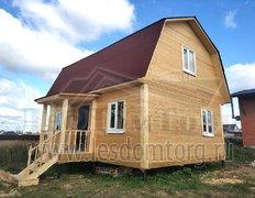Дом из профилированного бруса естественной влажности. Проект Алтай-1 6х8 с ломаной кровлей