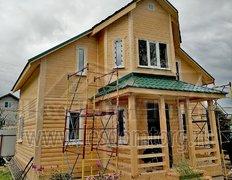 Дом из сухого профилированного бруса по проекту Лидер-3К, 8х8.5