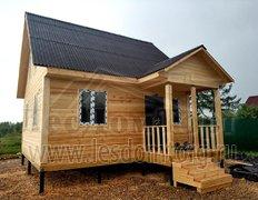 Дом из сухого профилированного бруса по проекту Пегас-1.6х6