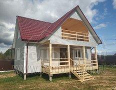 Каркасный дом по проекту Добрыня 2К 8х9 с отделкой сайдингом