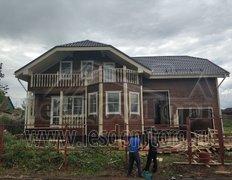 Каркасный дом, 220 м2. Индивидуальный проект