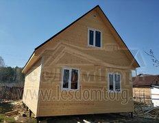 Каркасный дом по проекту Домодедово 2К  6х8