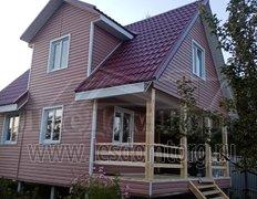 Каркасный дом по проекту Домодедово 2К  6х8. С отделкой сайдингом