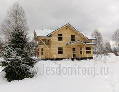 Дом из бруса, индивидуальный проект 12.5х14.5. Первый этап