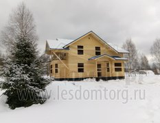 Дом из бруса, индивидуальный проект 12.5х14.5