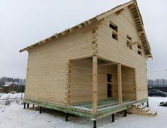 Дом из бруса, индивидуальный проект 7х8.5