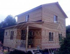 Дом из бруса, индивидуальный проект 8х6