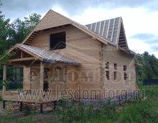 Дом из бруса, индивидуальный проект под усадку