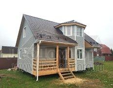Каркасный дом по проекту Ирис 2К 7х9 с отделкой сайдингом