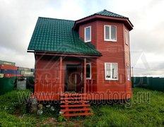 Каркасный дом по проекту Флагман 2-К, 7х7 в зимней комплектации