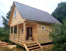 Каркасный дом по проекту Домодедово-2К 6х8. Сезонная комплектация