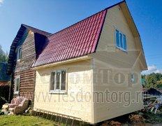 Каркасная пристройка к дому из бревна, 5х6 м