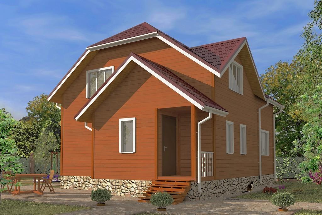 Дом из бруса 7х8.5 «Азов-1»