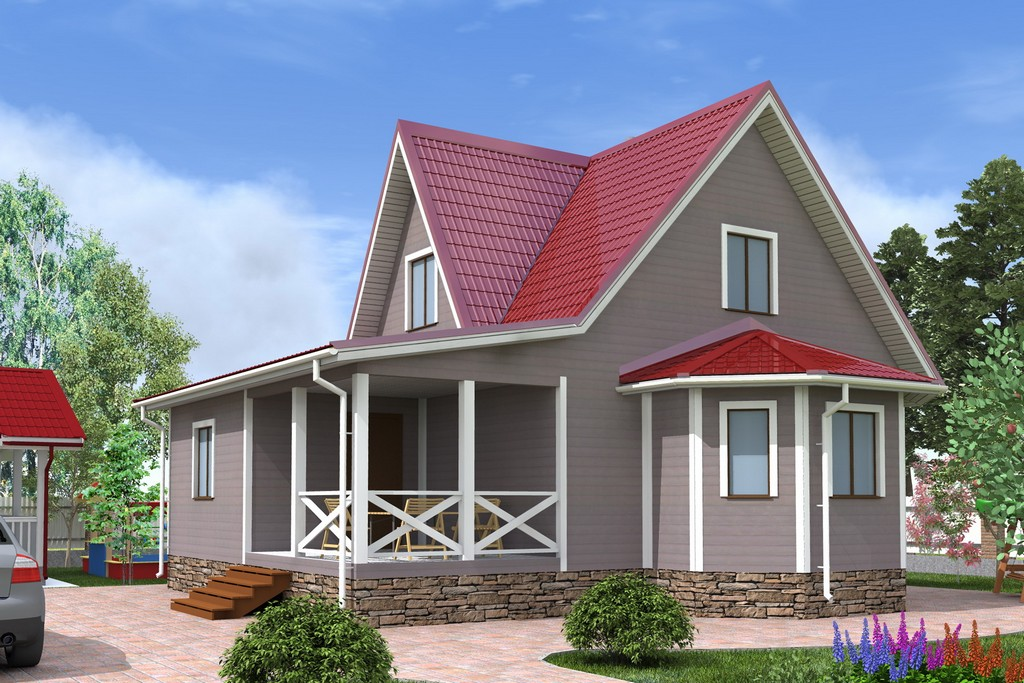 заверениям опытных дом с двускатной крышей и террасой фото могут быть модели