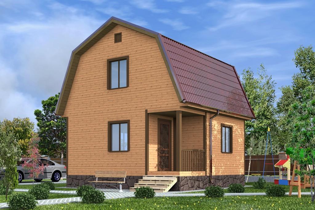 Каркасный дом 5х5 «Чехов-1К»