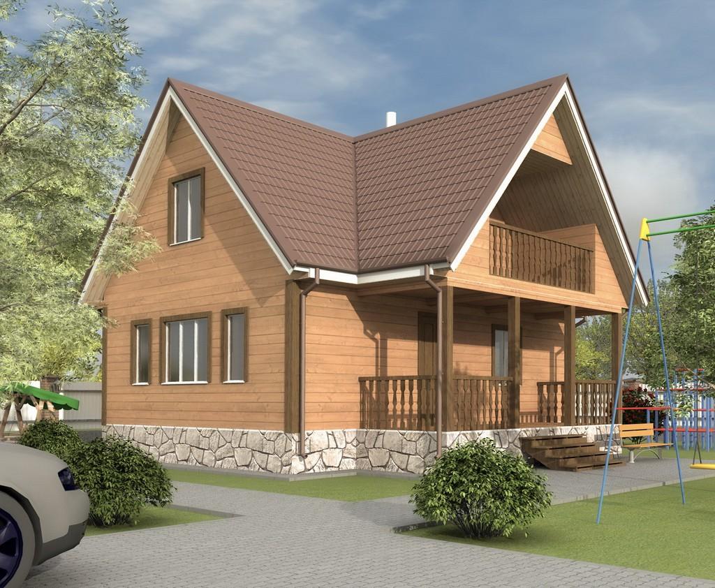 Дом из бруса 8х9 «Добрыня-2»