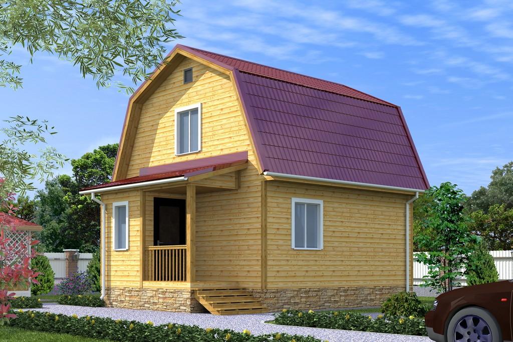 Дом из бруса 5х6.5 «Эльбрус-1»