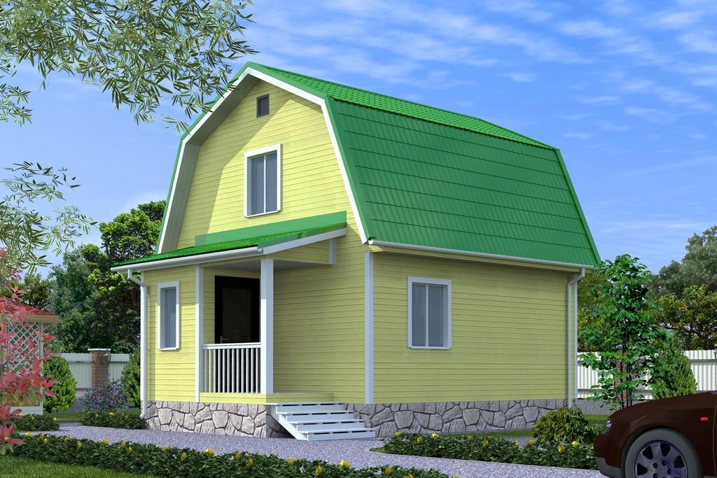 Каркасный дом 5х6.5 «Эльбрус-1К»
