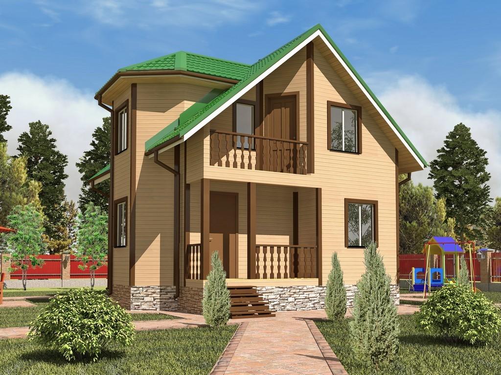 Каркасный дом 7х7 «Ермак-1К»