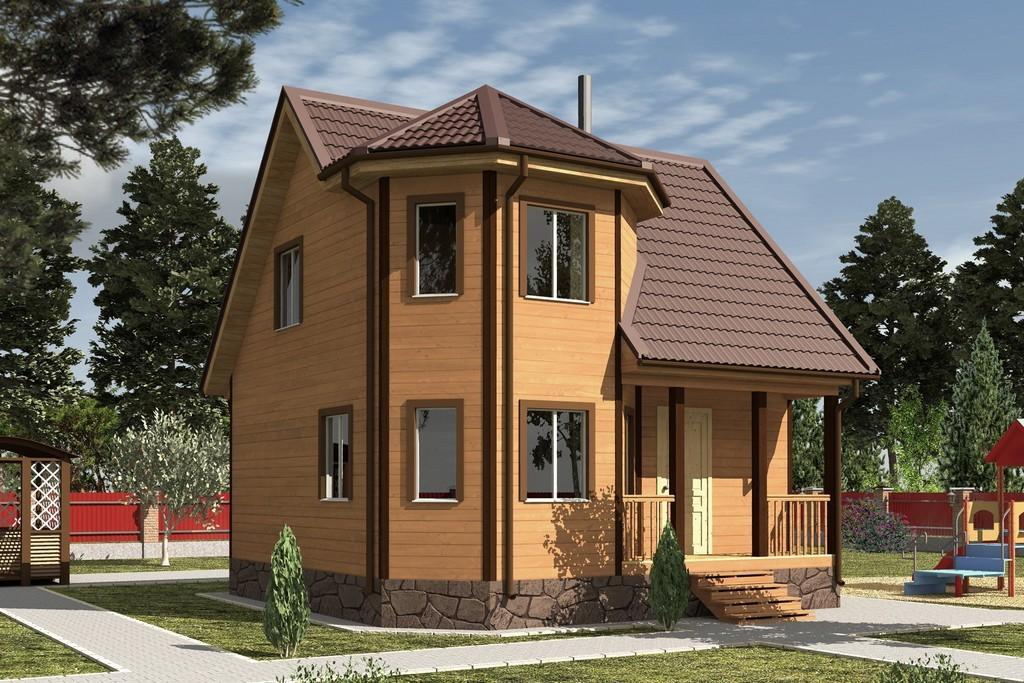 Дом из бруса 7х7 «Флагман-2»