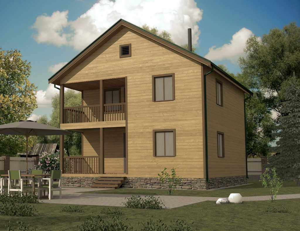 Дом из бруса 8х8 «Садовод-2»