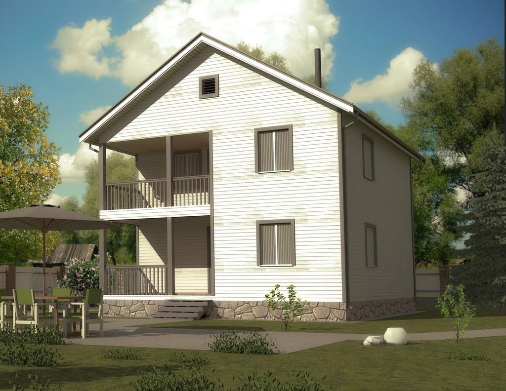 Каркасный дом 8х8 «Садовод-2К»