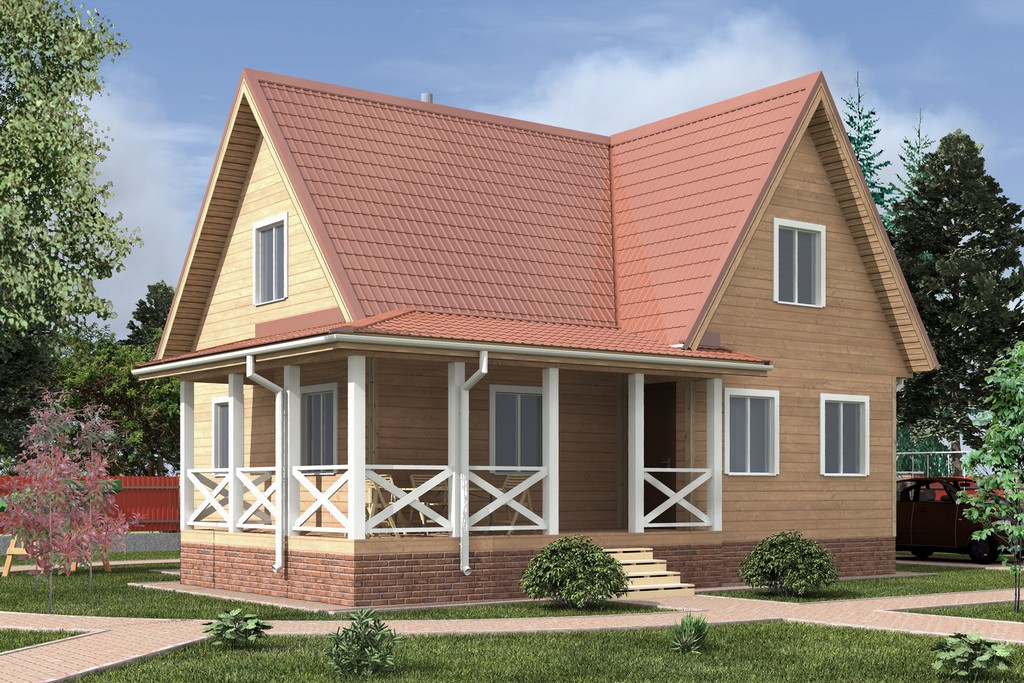 Дом из бруса 8х10.5 «Калуга-2»