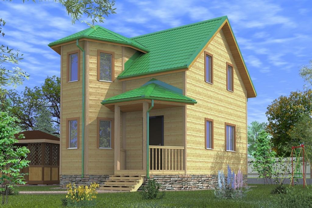 Каркасный дом 6х6.5 «Сенеж-1К»