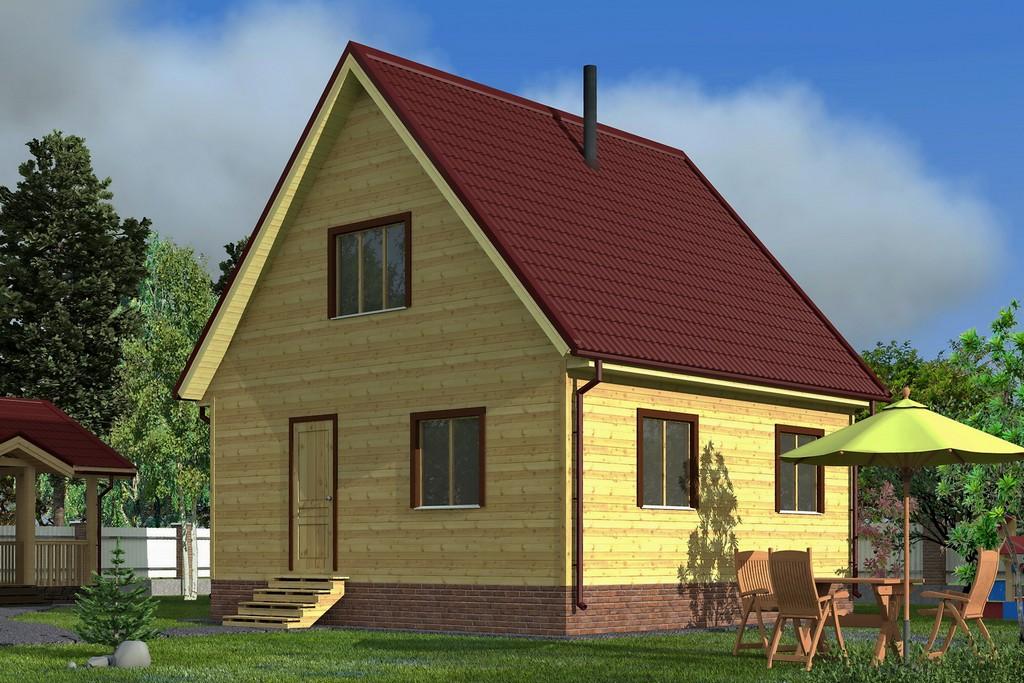 Каркасный дом 6х6 «Теремок-1К»