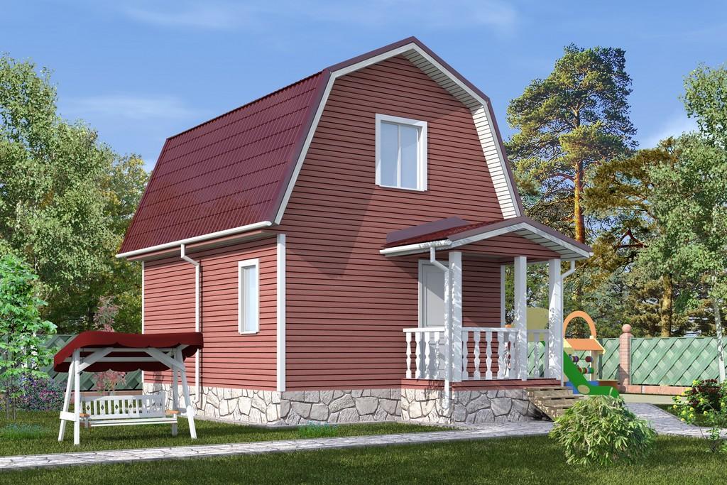 Каркасный дом 4х6 «Янтарь-1К»